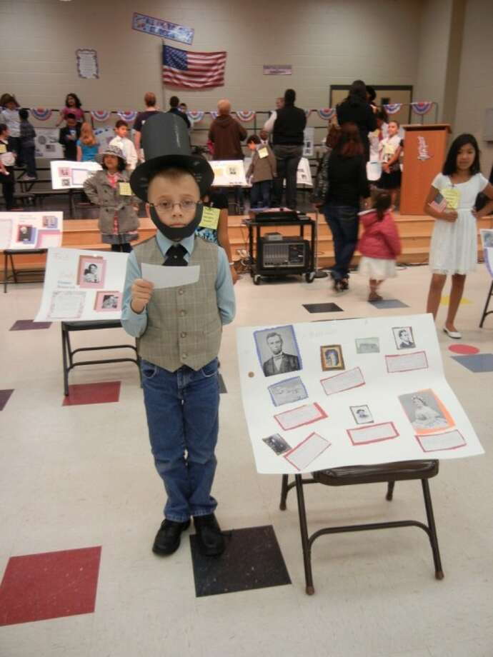 Abraham Lincoln came to life in Bens Branch Elementary's President and First Lady Wax Museum Feb. 13.