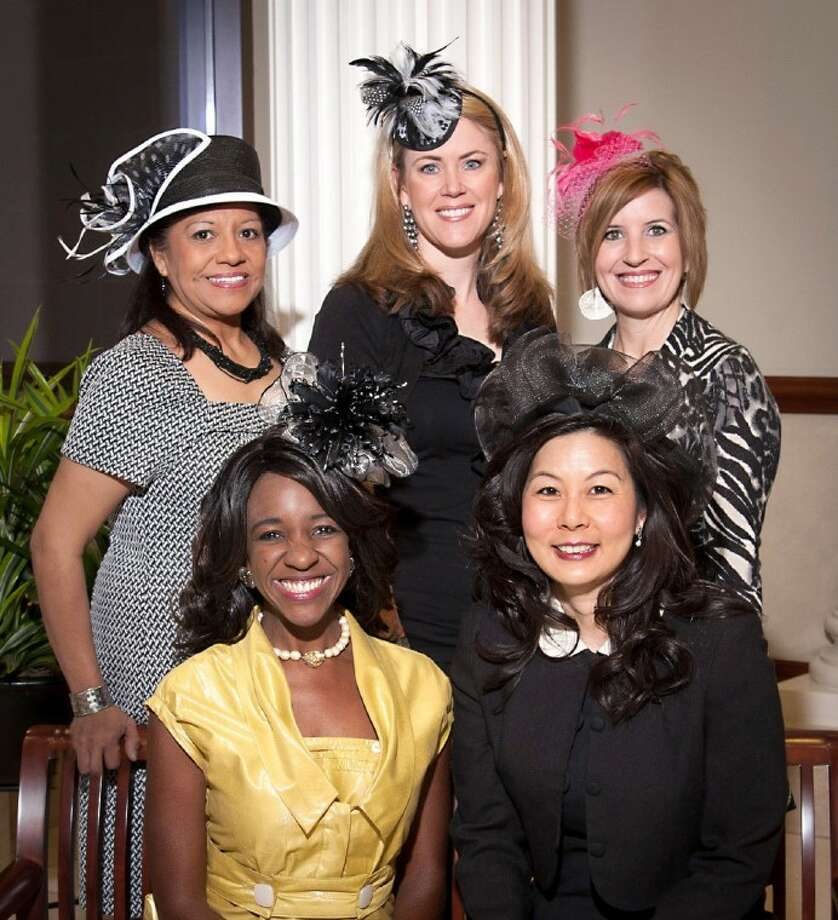 The 2012 Mad Hatter Spring Luncheon & Fashion Show Committee is, from the left (front row): Jacquie Baly Chaumette - Mad Hatter Luncheon Honorary Chair, Terri Wang - Mad Hatter Chair; (back row) Manuela Arroyos - Fort Bend Seniors CEO; Jeni Scarborough - Table Décor Chair; Kristin Weiss - Fort Bend Seniors Director of Development. Not pictured are Dorris Irving - Fashion Show Manager; and Heather Carroll - Raffle/Silent Auction Chair. Photo: RANDY_KOZLOVSKY