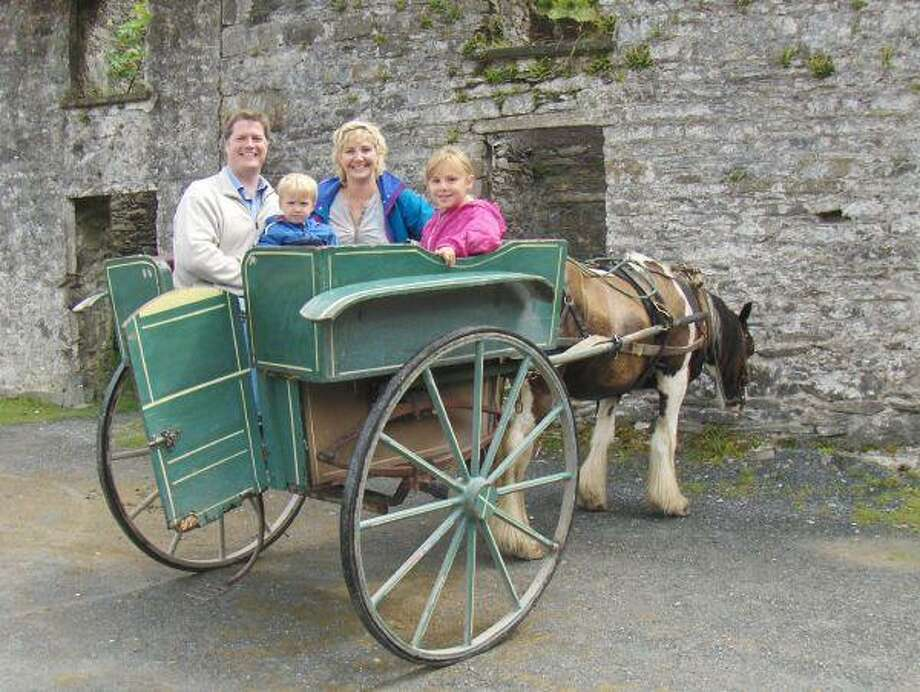 Cancer victim Michelle Paterson, along with her husband, Kenny, and children Isabelle and Aiden, vacationed in Ireland in 2007 as part her seven-year travel plan.