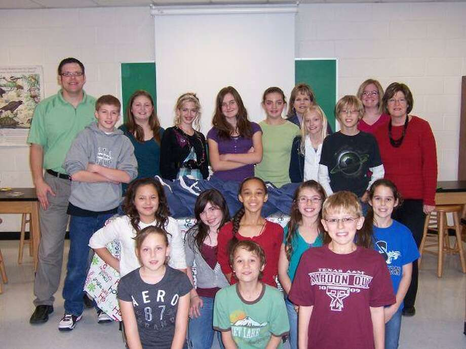 Members of Lone Star's Promise at Bear Branch Sixth Grade pose for a picture. Student s made care packages for the Magnolia Police Department to hand out to children involved in an accident or other stressful situations.
