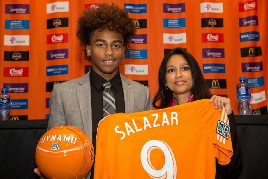 Bush senior Bryan Salazar signed his first professional contract with the Houston Dynamo on Feb. 13. Salazar played for the Broncos as a freshman and sophomore. Photo: Anthony Vasser