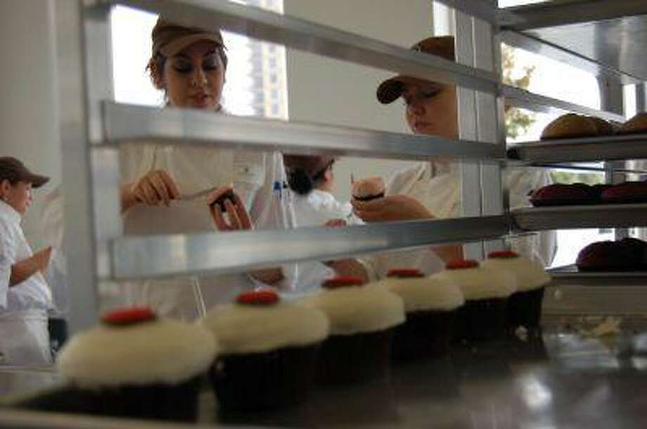 Cupcakes are baked fresh daily using gourmet ingredients.