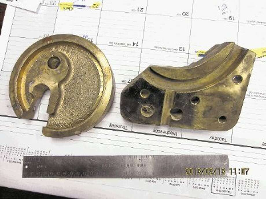 Conroe Police are searching to find the composition and/or purpose of these metal piece obtained at a local scrap yard. If you have any information, call Investigator Carl Johnson at 936-522-3305. / @WireImgId=2615243