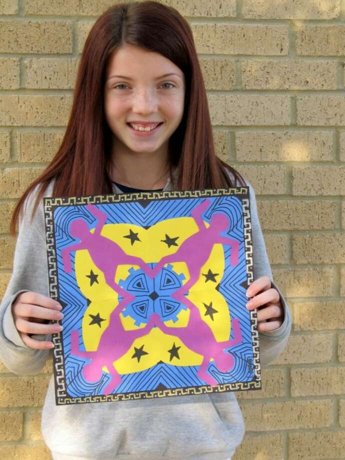 Lauren Bowman, a fifth-grader at Timbers Elementary, created the design that was chosen for this year's Humble ISD/Lone Star College-Kingwood Fine Arts Festival T-shirt. The festival is April 30. To volunteer at this community event, email Terah.Clifton@humble.k12.tx.us.
