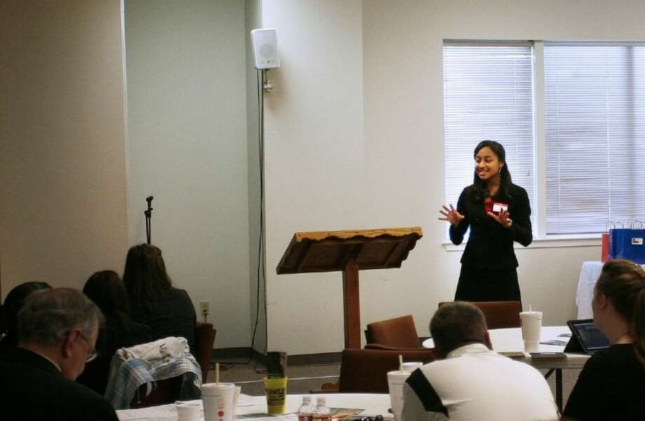 Homeschool student Amber Bell speaks during the Montgomery County Right to Life Oratory Contest held Saturday at Conroe Bible Church. To view or order this photo and others like it, visit: HCNPics.com
