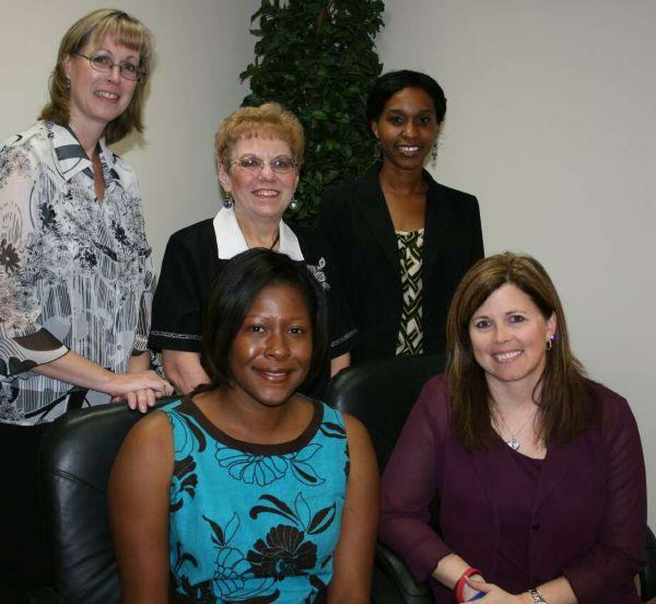 Spring ISD Financial Services staff members who worked on the district's award-winning financial report are, front row, from left, Executive Director Ann Westbrooks and Associate Superintendent Christine Porter. Back row, from left, are Accountant Mary Schroeder, Executive Secretary Glenda Waller and Director of Accounting Belinda Odera.