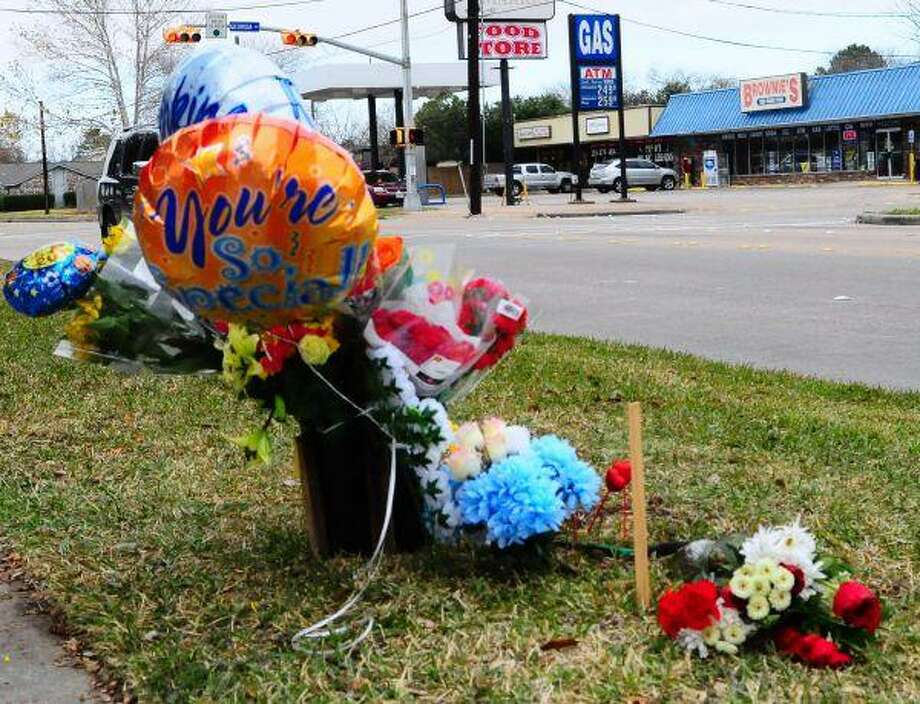 Area residents erected a small memorial in front of Bonnette Junior High School where 12-year-old Nikolas Jaime was struck by a vehicle. The victim later died at the hospital.