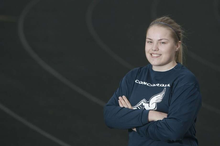 Concordia Lutherna's Katelyn Holland received an appointment to the U.S. Air Force Academy where she will compete on the track and field team. Photo: Karl Anderson
