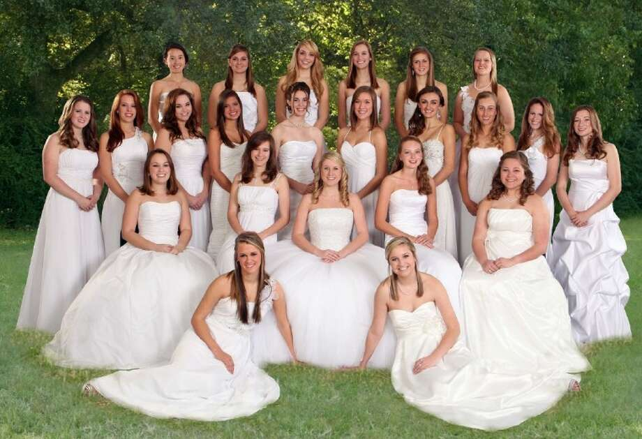 Pictured from the left are (front row) Jessica Duda and Katie Morris, (second row) Kaitlin Cook, Emily Morris, Nikki Yost, Meagan Magaldi, Katherine Gesoff, (third row) Caroline Richardson, Heather Morris, Allison Morris, Brooke Davis, Catherine Long, Lindsay Bartlett, Catherine Braaten, Abby Newton, Lauren Morris, Mary Newsom, (fourth row) Christina Sze, Drew Hartt, Kenzie Buchanan, Claire Bartlett, Leslie Patton, and Victoria Adams.