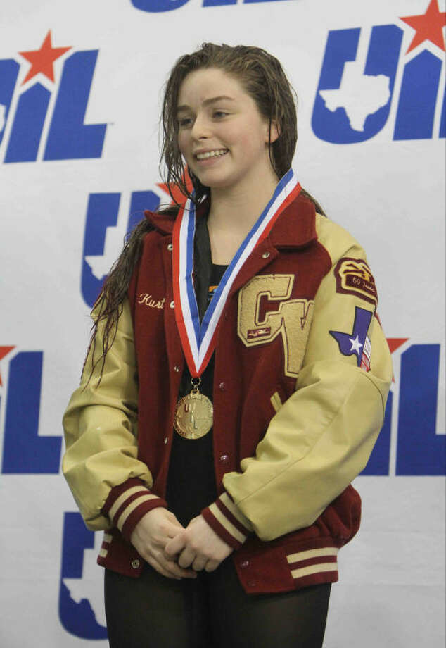 Cypress Woods' Ashley Brem finished first in the Class 5A finals of the girls' 100-yard breaststroke during the UIL State Swimming and Diving Meet at the Lee and Joe Jamail Texas Swim Center on Feb. 23 in Austin. Photo: Jason Fochtman