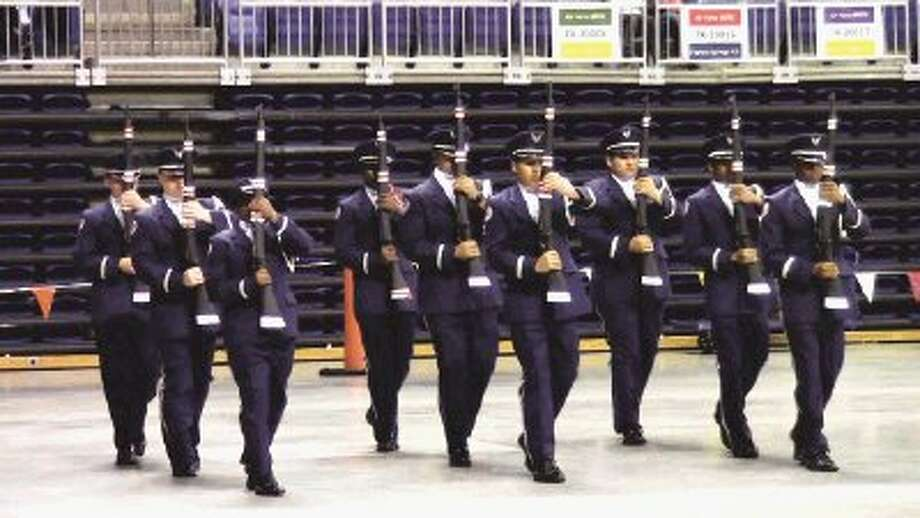 Langham Creek High School AFJROTC Unit TX-20061 participates in the Armed Regulation drill during the CFISD Military Drill Competition on Feb. 9. Langham Creek placed third to advance to the National High School Drill Team Championships in Daytona Beach, Fla., in May.