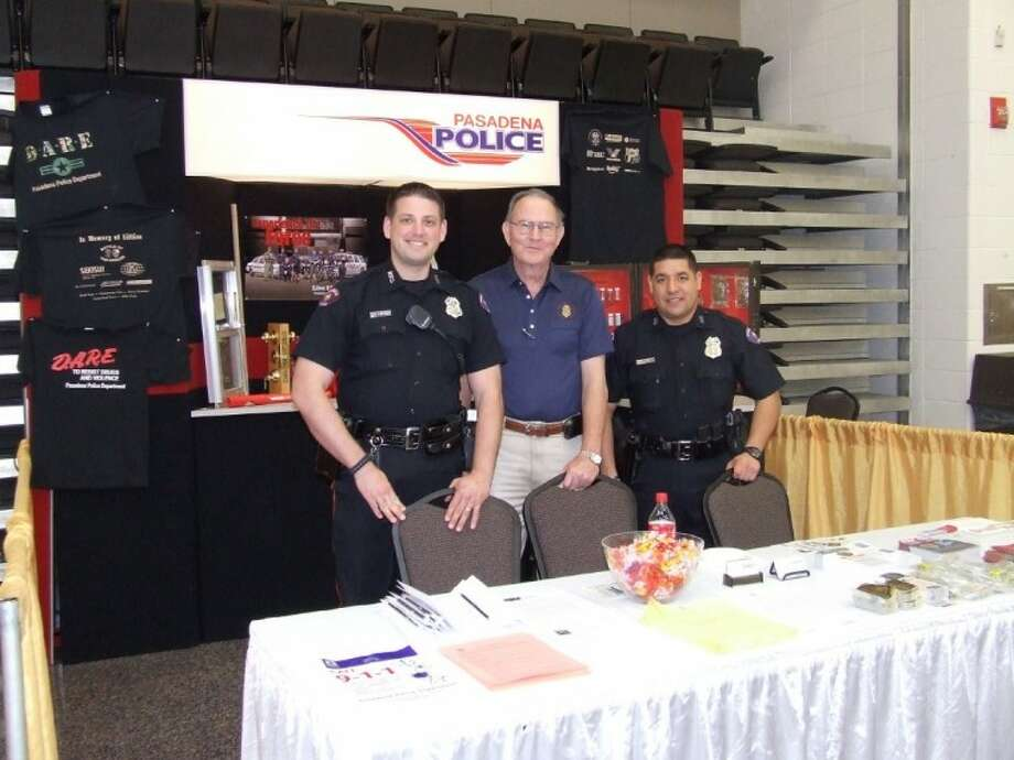 The Pasadena Police Department was recruiting for their upcoming Citizens Police Academy Thursday at the Pasadena Chamber of Commerce Business Expo. Photo: Jeri Martinez