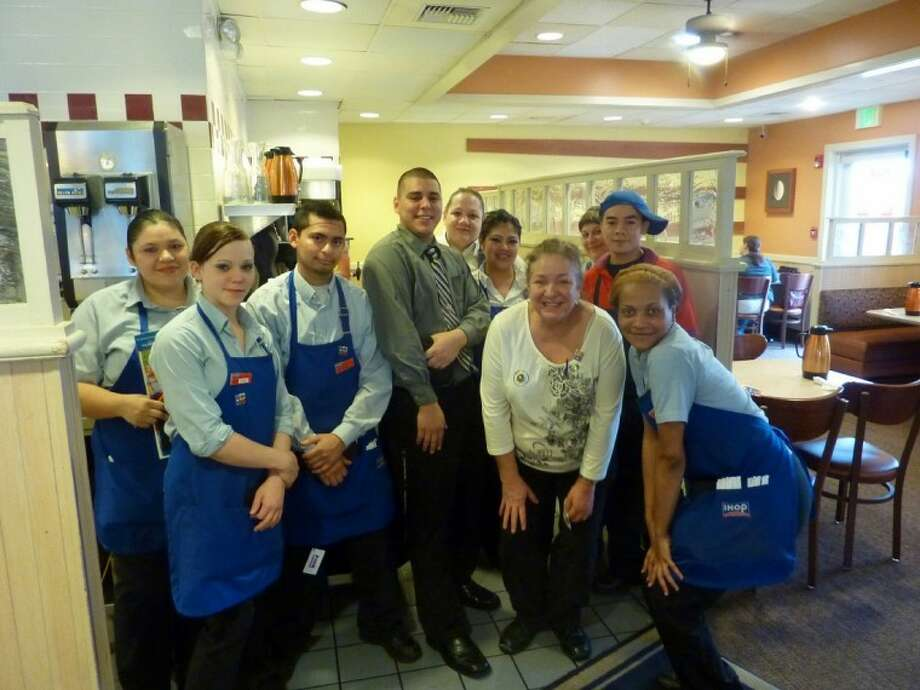 The staff at the Pearland IHOP were have to offer their support to the Shriners Hospital fundraiser on Free Pancake Day.