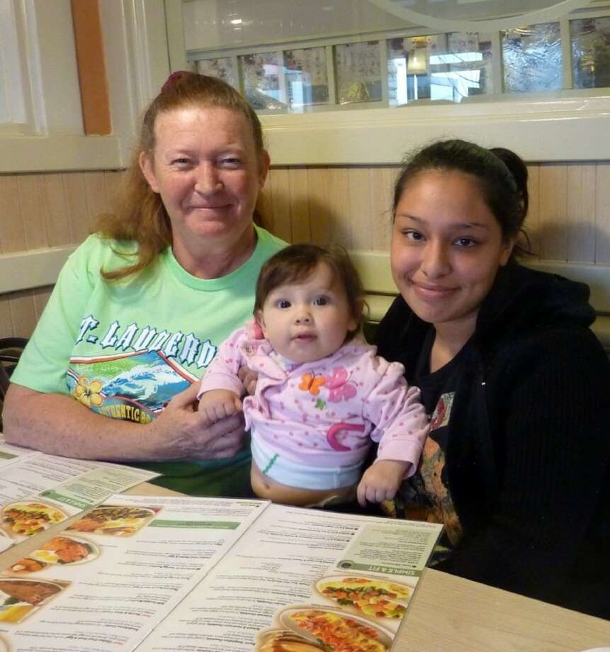 These lovely ladies were spotted at the Pearland IHOP on Free Pancake Day. From left: Janette Stanley, Zoey Longwell, 13 months, and Angelica Longwell.