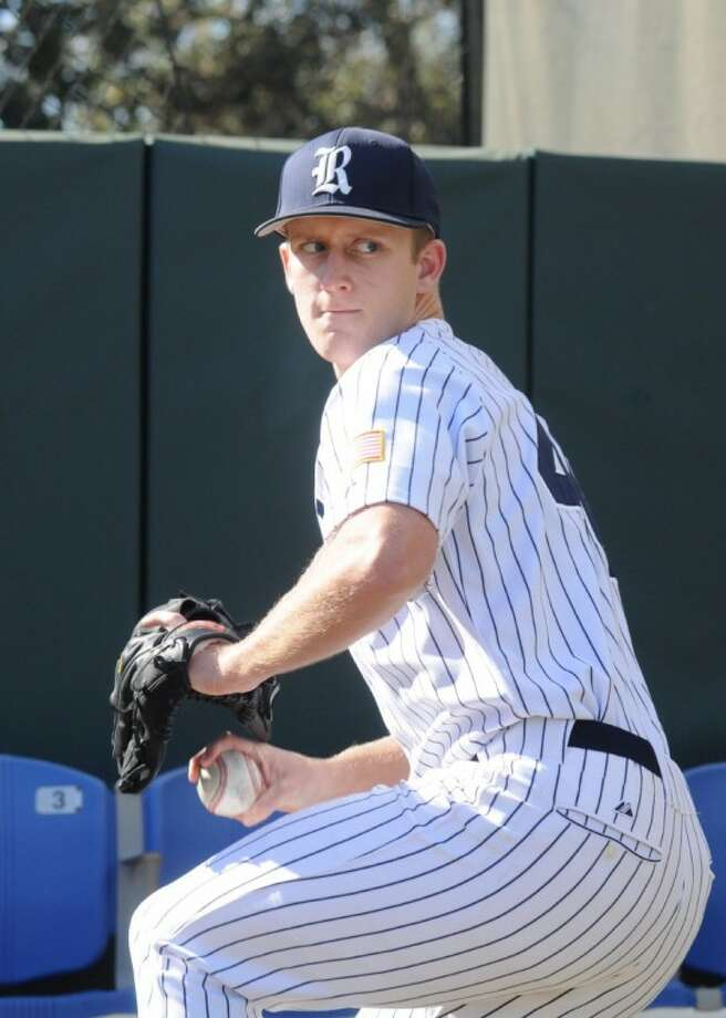 Rice University sophomore pitcher Jeremy Fant, a 2009 Cy Woods High graduate, is 2-1 with a 3.68 ERA in 10 games this season for the Owls. (Photo Courtesy of Rice Athletics)