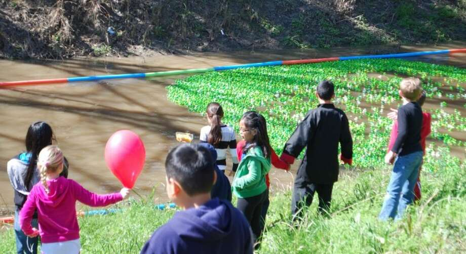 The Alvin ISD Education Foundation's Annual Mustang Bayou Turtle Race took place Saturday, February 11, and a total of 9,093 turtles raced down the bayou. Photo: ACC