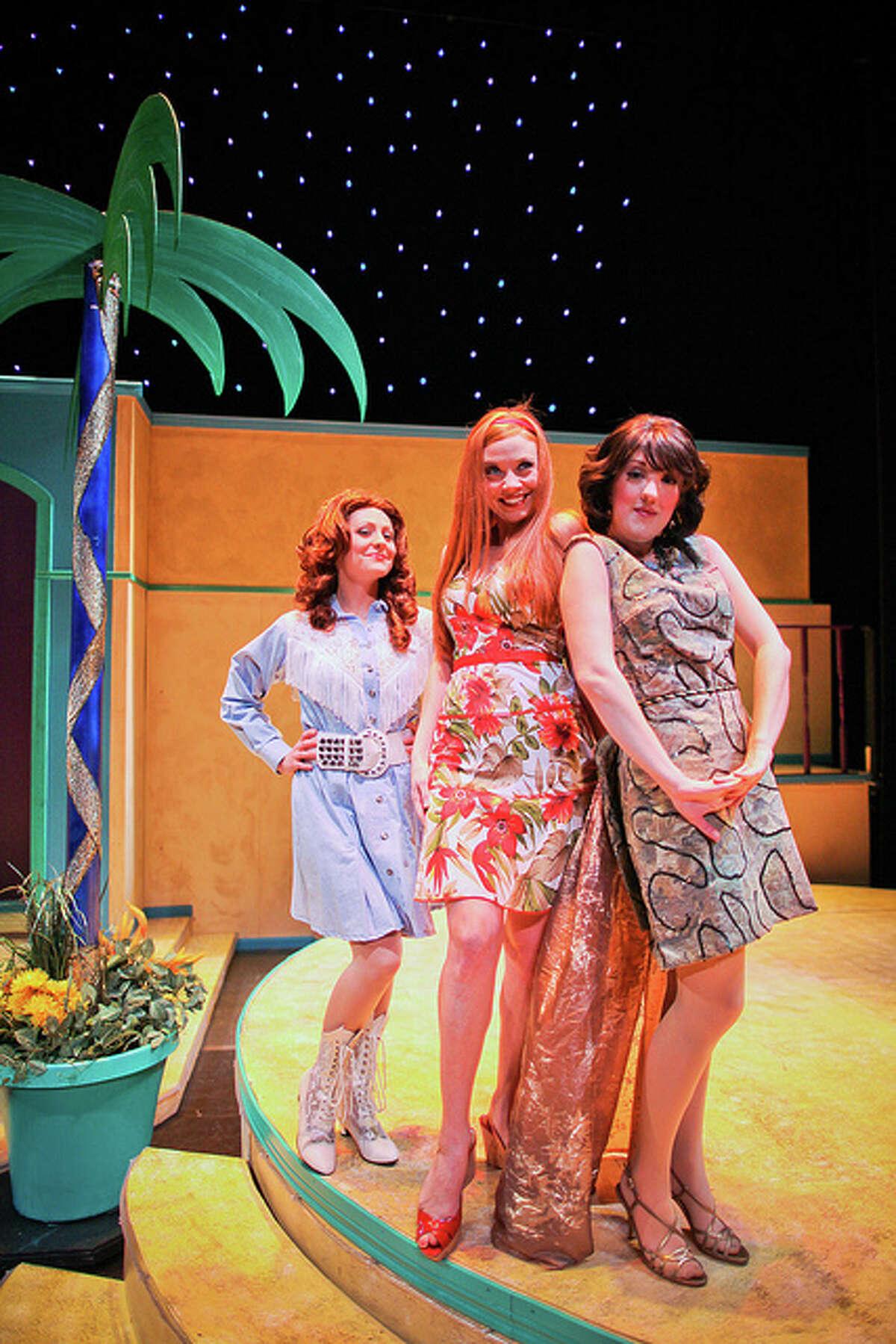 (L-R) Lendsey Kersey, Laura Babbitt, Kristina Sullivan in Masquerade's
