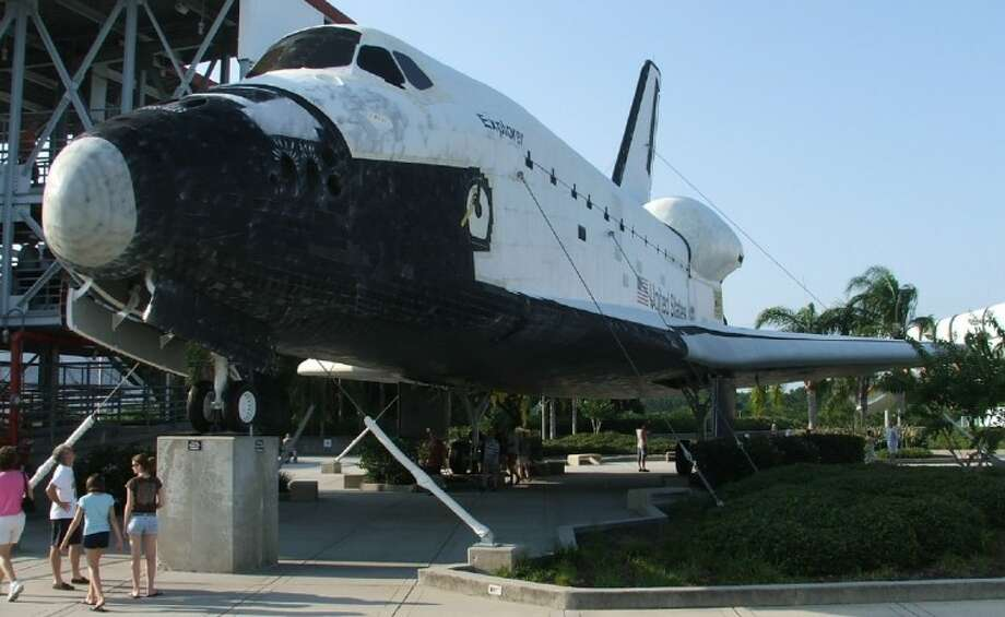 Mock shuttle at Kennedy Space Center. Soon it will have a new home at Space Center Houston in Clear Lake.