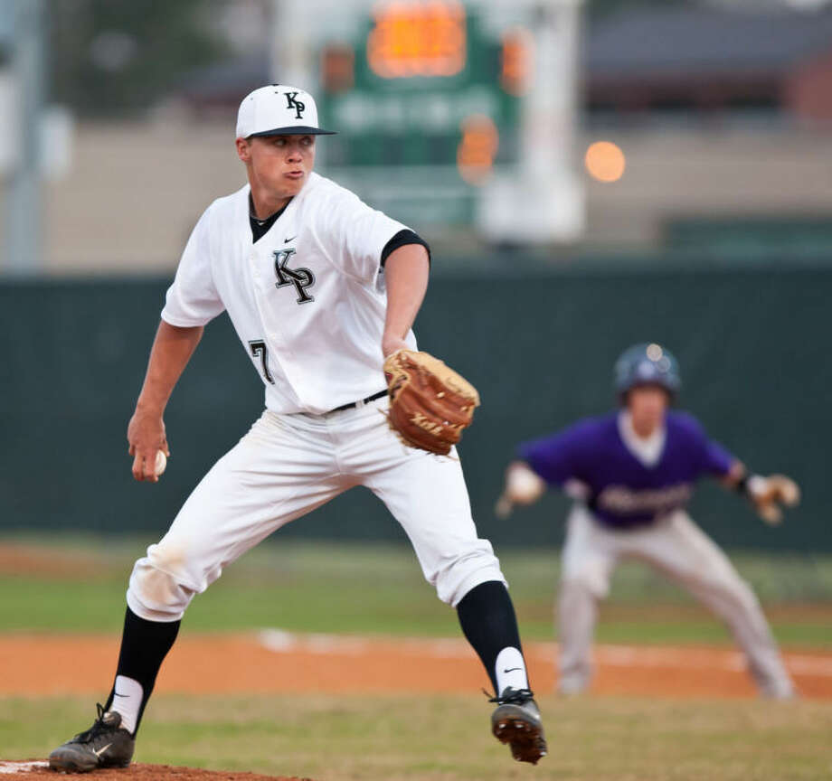Brady May struck out 14 batters in Kingwood Park's 5-2 win over Humble on Feb. 26, 2013 Photo: Photo By Amanda J. Cain