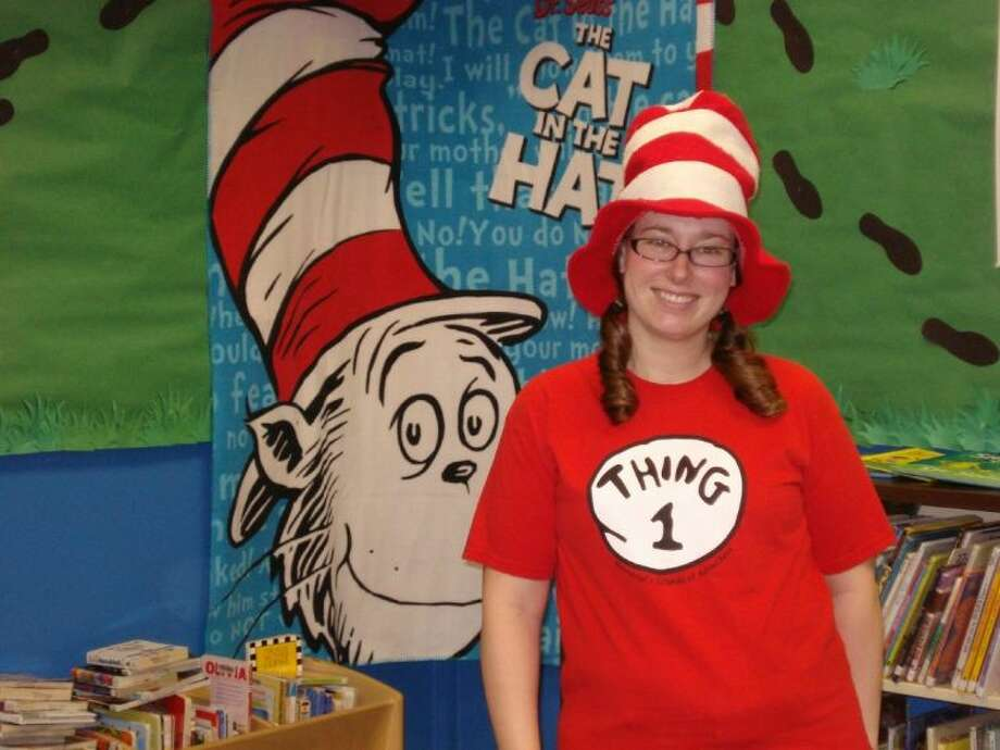 Bellaire children's librarian Missy Dixon is ready to celebrate Dr. Seuss's birthday. Photo: Submitted