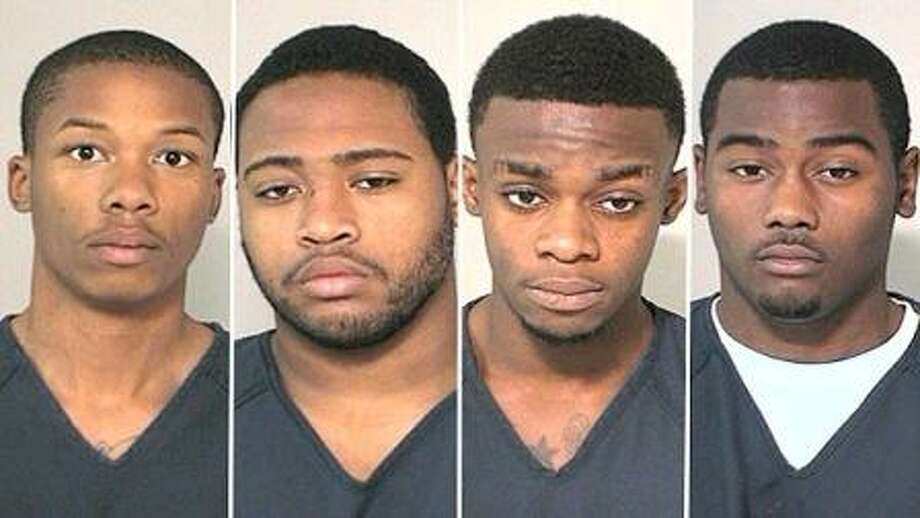 Tyreon Young, 17, Darren Collins, 19, Brendan Okere Jr., 18, and Robert Lee Evans Jr., 19, are all charged with aggravated robbery. Photo courtesy of KTRK ABC Channel 13 News.