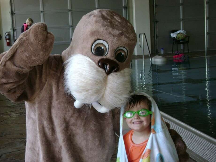 Wally the Walrus, the mascot of the children's swim program at West University's recreation center, will be on hand during the facility's birthday party April 12.
