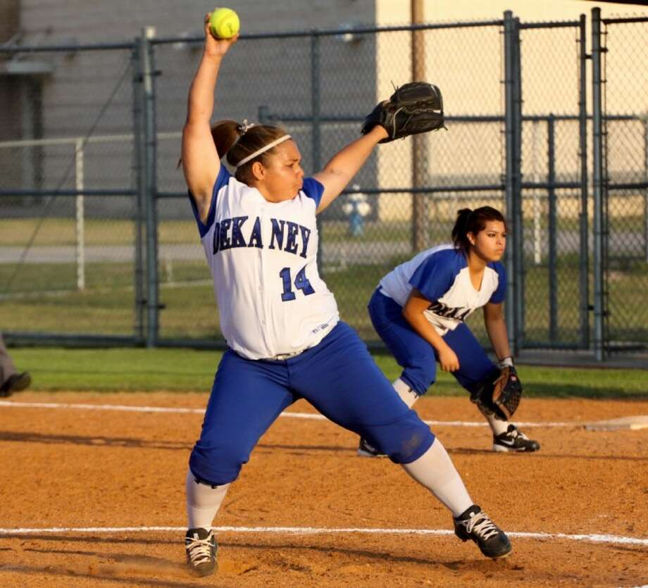 Dekaney sophomore pitcher Abby Robinson is a captain on the team.
