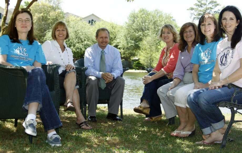 From left are Cindy Whitmire, NCL Livable Forest chapter; Bonnie Kirsch, NCL Kings Trails chapter; Paul Wittenberg, operations manager at Westminster House; Millie Garrison, HAAM resource development director; Diane Jackson, NCL Kings Trails chapter; Danette Sandow, NCL Livable Forest chapter; and Susan Stillman, NCL Lake Houston chapter. The NCL Kingwood chapter is not pictured.