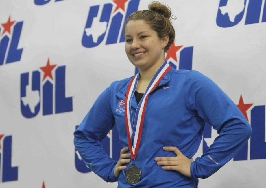 Oak Ridge's Lindsay Manning finished second in the Class 5A championship finals of the girls 500-yard freestyle during the UIL State Swimming and Diving Meet at the Lee and Joe Jamail Texas Swim Center.