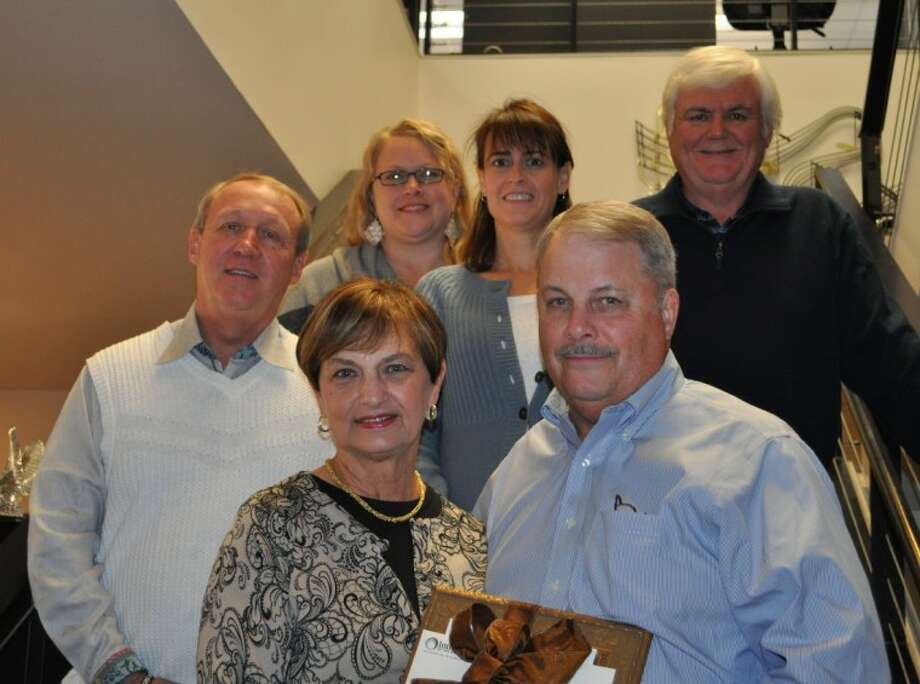 Randy and JoAnne Lowry, front center, have been members of The Pavilion Partners for 11 years and are supporters of the Pavilion's educational outreach programs and fine arts scholarship program. The were selected as the fine arts recipients for the Interfaith Five Who Share Luncheon.