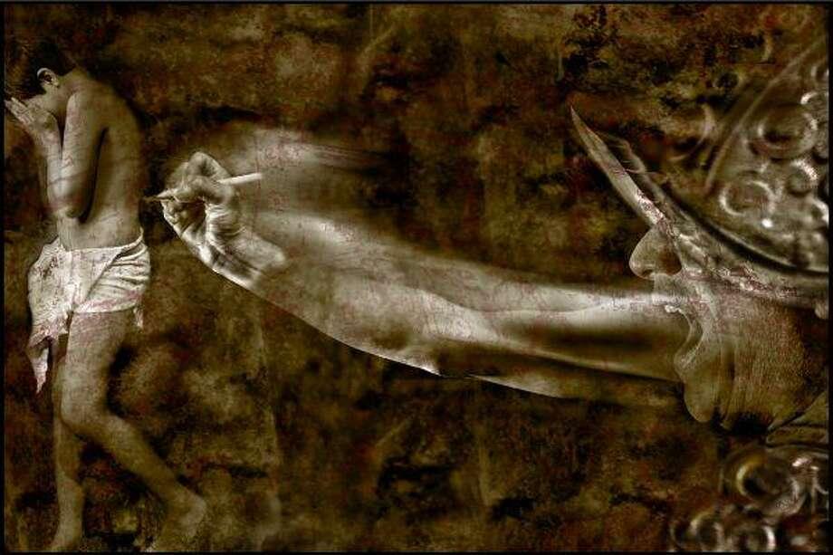 "Sergio Santos's ""Escrito en la Sangre"" is one of the pieces of artwork to be featured at ""Art Vitae at Artopia 2010"" at Winter Street Studios."