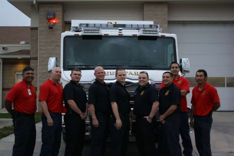 The Deer Park Volunteer Fire Department will participate in the annual Fight for Air Climb Highrise Challenge on March 24 in Houston. DPVFD members participating are Keith Vasquez, Randy Gleason, Terry Chaney, Kevin Wolfe, Daniel Kerr, Shane Bridges, Jose Martinez, Phillip Arroyo and Polo Guizar. Not pictured are Danielle Bird, Ted Bulfin, Steven Diggs, JustinHarveyand Edgar Trevino. Photo: Jeri Martinez