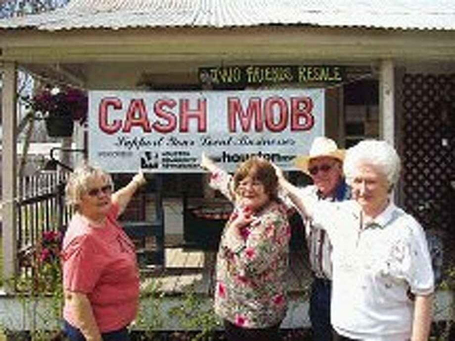 The next Cash Mob will take place at Two Friends Resale in Porter March 9 and 10. Pictured is the Two Friends Resale crew: Glenda Green, Kathy Baldridge, Robert Green and Rose Sr.