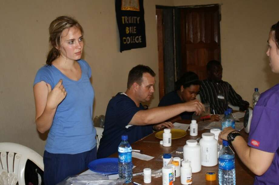 Kingwood resident and Baylor student Lauren O'Farrell works in a CERI pharmacy on a mission trip in Nigeria.
