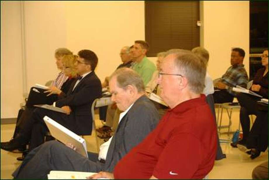 Members of Missouri City's Bond Exploratory Committee meet at the Recreation and Tennis Center. Photo: Submitted Photo