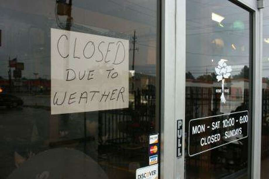 Some area business were closed on August 5 in reponse to the nasty weather expected from tropical storm Edouard. Most Spring businesses remained open.