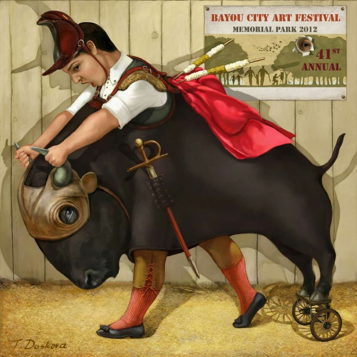 """Artwork titled """"La Corrida"""" by Tanya Doskova, the 41st Annual Capital One Bank Bayou City Art Festival Memorial Park's featured artist. (Submitted by the Bayou City Art Festival)"""