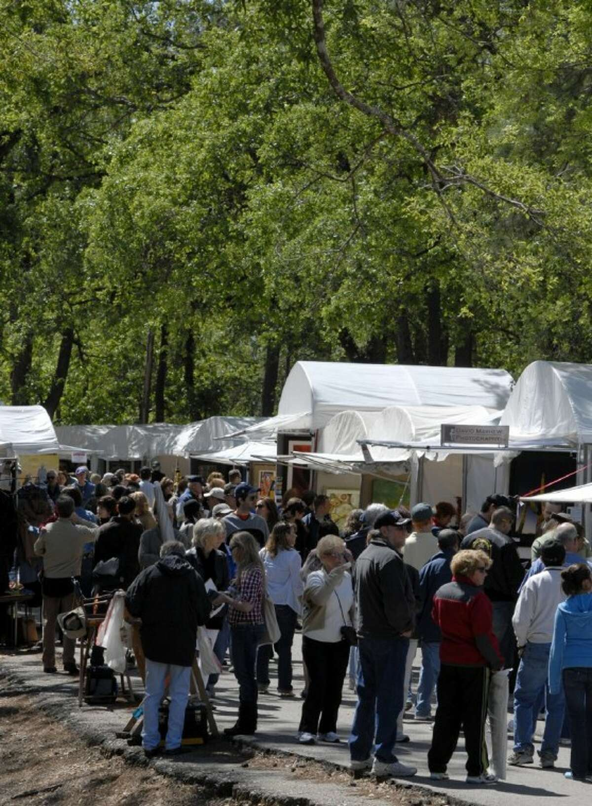 Crowd shot from last year's Bayou City Art Festival Memorial Park. (Photo submitted by Bayou City Art Festival)
