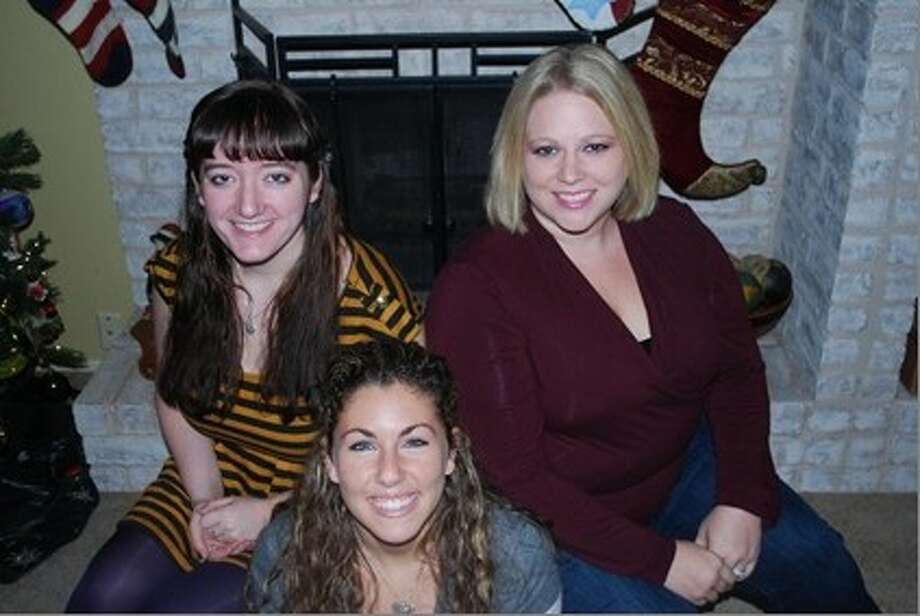 Encore Players' Approaching Lavendar cast mates (l to r) Grace Glass, Amanda Mena and (b) Kristin McKenzie. Photo: KVPAC