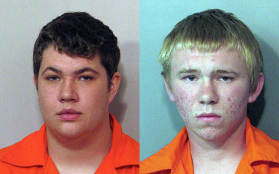 Sugar Land police arrested Conner Hinton, 17, (left) and Taylor Nuttal, 17, (right) both of Sugar Land, after breaking into a house owned by Sugar Land Police Chief Doug Brinkley. Both men were charged with burglary of a habitation.