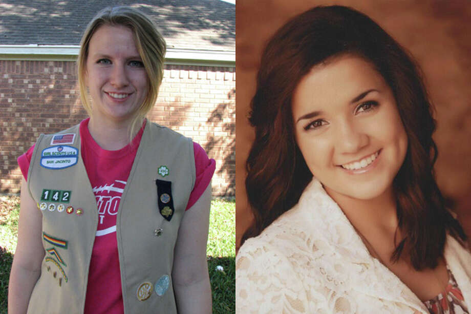 Two Sugar Land Girl Scouts, Sydney Reitz (left) and Carolyn Ramirez (right) recently earned the Girl Scout Gold Award, the highest national honor in Girl Scouting that is achieved by less than five percent of all Girl Scouts. Photo: Submitted Photo