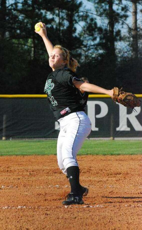 Averaging 10 strikeouts a game, Sarah Kirby has been the heart and soul of the Lady Lions' pitching staff.