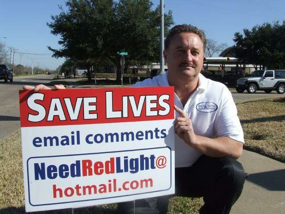 In 2010, businessman Todd McIntosh put up signs at Moonrock and Bay Area Boulevard to get input on putting a red light at that intersection.