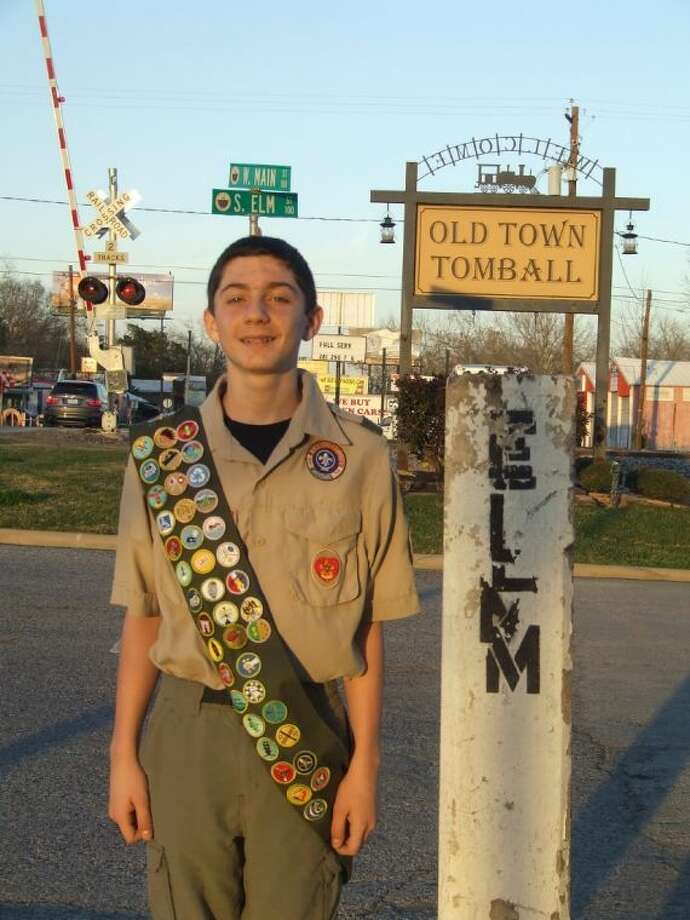 Tomball Scout Dawson Duerer will soon begin working on his Eagle Scout project restoring the concrete street markers throughout Tomball.