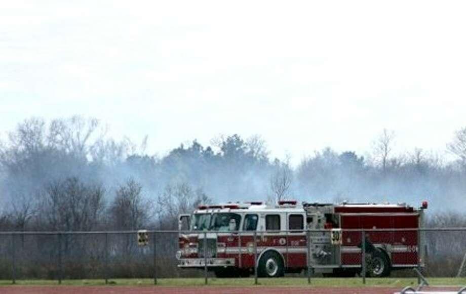 Firefighters battled a dangerous grass fire Thursday (Feb. 28). Photo: KRISTI NIX