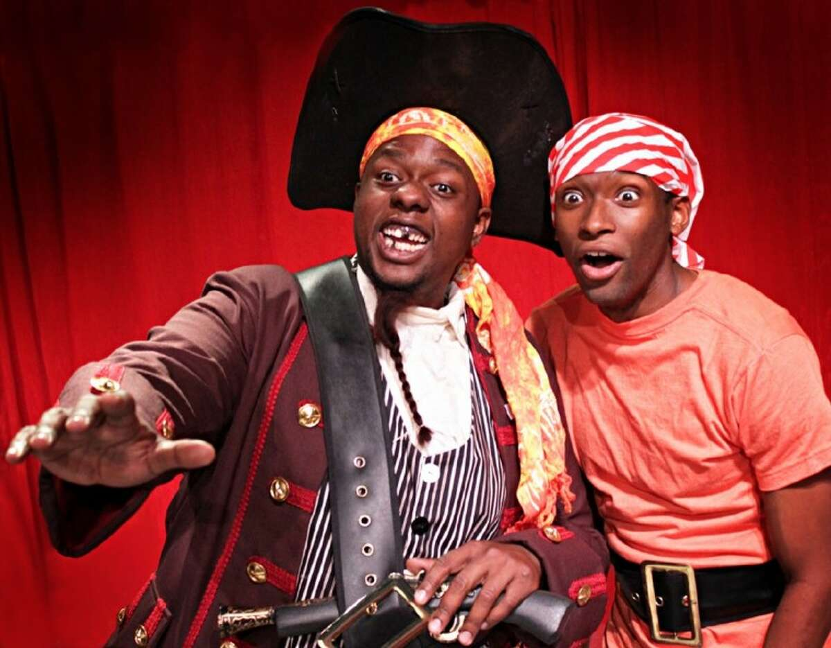 Pictured left to right are Rodrick Randall as Braid Beard and Richard Romeo as Jeremy Jacob. Main Street Theater presents