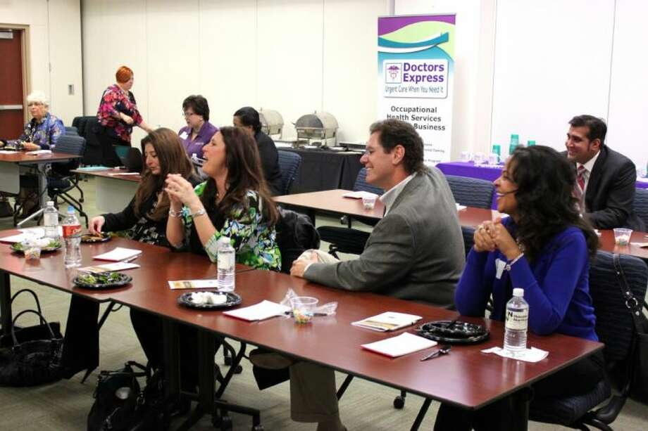 Members of the Houston Northwest Young Professionals at Aplanalp's session