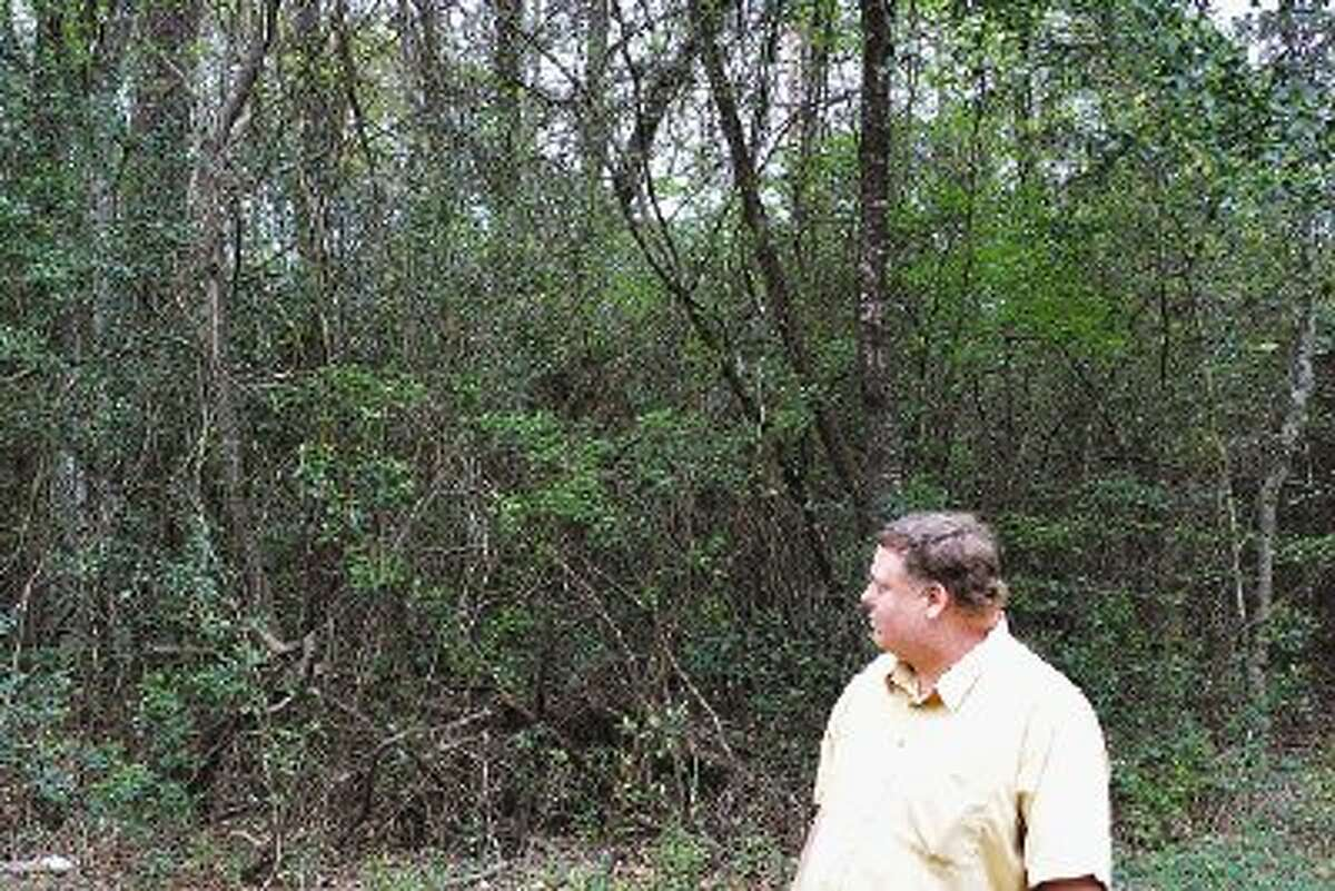 Gary Lindley is offering his property in the Kingwood subdivision of Oak Manor to area non-profits to use as a community garden free of charge. The only caveats: Clear your share of the property, and find a water source.