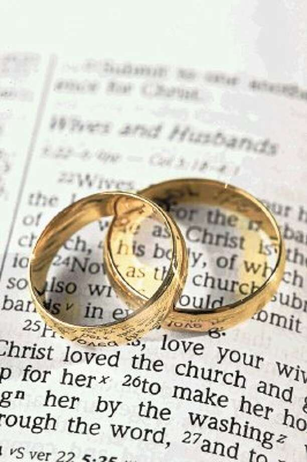 The San Jacinto County Clerk's Office filed 13 marriages from March 29 through April 25, 2012. Photo: File Photo / @WireImgId=2517225