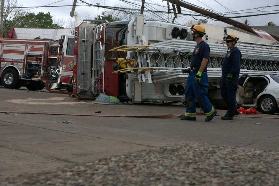 Fire Trucks In Serious Montrose Area Accident Houston